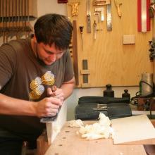 David Jünger in seiner Werkstatt
